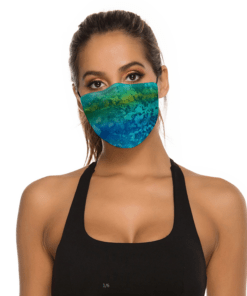 Designer face mask front cover