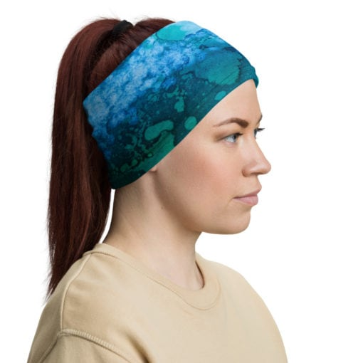 headband bandana face cover profile view