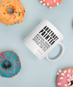 abstract painter mug donuts