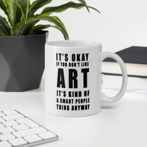 smart people art mug