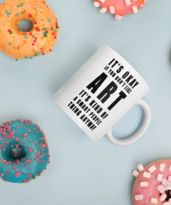 art mug around donuts